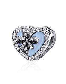 jewellery: Silver Light Blue Love Gift Heart Charm!