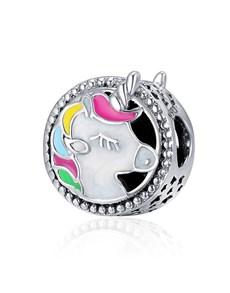jewellery: Silver Enamel Unicorn Charm!