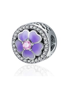 jewellery: Silver Purple and Pink Charm!