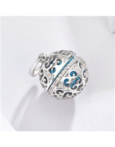 jewellery: Silver Filigree And Cubic Perfumed Ball Charm!