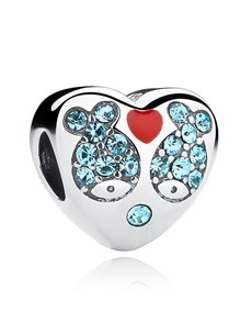 jewellery: Sterling Silver Heart Cubic Fish Charm!
