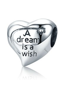 jewellery: Silver Heart Dream and Wish Charm!