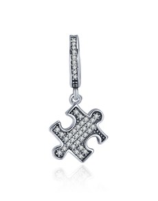 jewellery: Silver Dangle Cubic Puzzle Piece Charm!