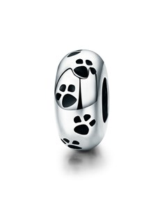 jewellery: Silver Spacer Charms With Paw Prints!