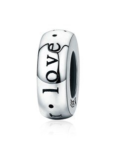 jewellery: Silver Spacer I Love You Charm!