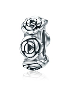 jewellery: Silver Spacer Rose Design Charm!