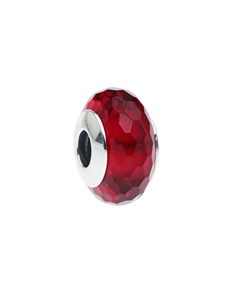 jewellery: Silver Faceted Bright Red Murano Glass Charm!