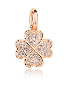 jewellery: Rose Gold Plated Heart Clover Charm!