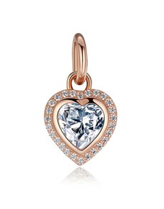 jewellery: Rose Gold Plated Heart Cubic Dangle Charm!