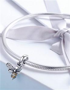 jewellery: Silver Bee Story Charm!