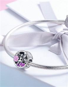 jewellery: Silver Flower Elf Garden Enamel Charm!
