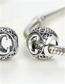 jewellery: Silver Filigree Letter C Charm!