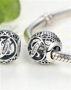 jewellery: Silver Filigree Letter J Charm!