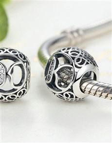 jewellery: Silver Filigree Letter K Charm!