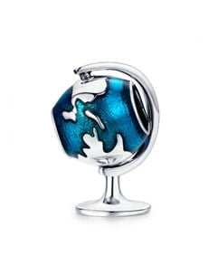 jewellery: Silver World Globe Enamel Charm!