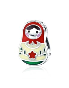 jewellery: Silver Enamel Russian Doll Charm!