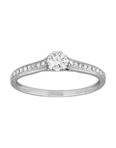 jewellery: 9ct White Gold Diamond Round Cut Ring!