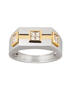 jewellery: 9KT Yellow and White Gold Diamond Gents Ring!