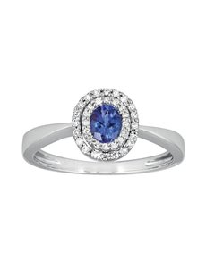 jewellery: 9ct White Gold VB3 Tanzanite Diamond Ring!