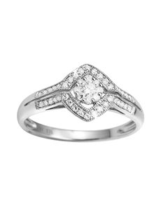jewellery: Diamond Cut Solitaire White Gold Ring!