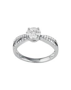 jewellery: Solitaire Pave Set Diamond Ring!