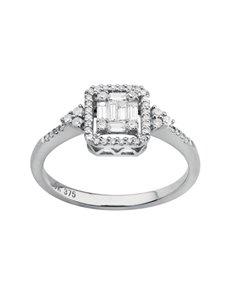 jewellery: Square Emerald White Gold Diamond Ring!