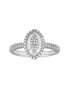 jewellery: Oval White Gold Diamond Ring!