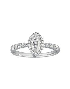 jewellery: Oval Pave Set White Gold Diamond Ring!