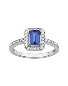 jewellery: 9ct White Gold Tanzanite Ring 0.60ct!
