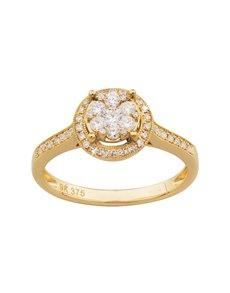 jewellery: 9ct Yellow Gold Diamond Ring!