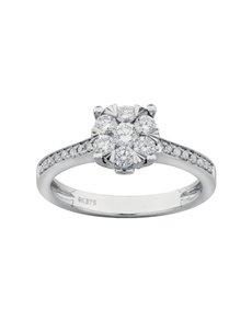 jewellery: 9ct White Gold Diamond Pave Set Ring!