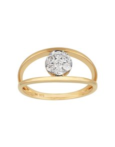 jewellery: 9KT Yellow Gold Dimond 0.32ct Ring!