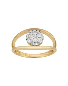 jewellery: 9KT Yellow Gold Dimond 0.44ct Ring!