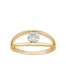 jewellery: 9KT Yellow Gold Dimond 0.16ct Ring!