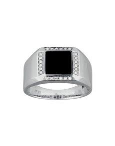jewellery: 9KT White Gold Diamond Gents Ring KA9773!