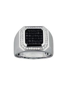 jewellery: 9KT White Gold Diamond Gents Ring KA9778!