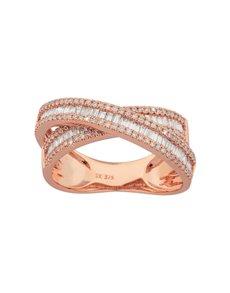 jewellery: 9KT Rose Gold Diamond 0,31ct Ring!