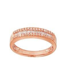jewellery: 9KT Rose Gold Diamond 0,10ct Ring!