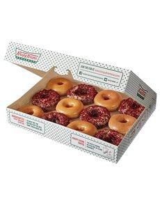 bakery: Krispy Kreme Original Glazed and Red Velvet Combo!