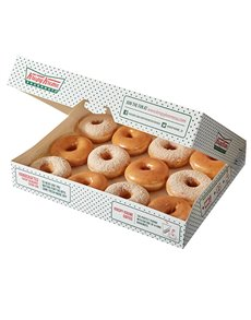 bakery: Krispy Kreme Original Glazed and Cinnamon Combo!