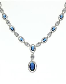 jewellery: Sterling Silver and Blue CZ Neckpiece!