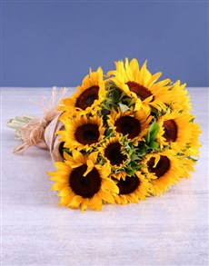 flowers: Sunshine Sunflower Bouquet!