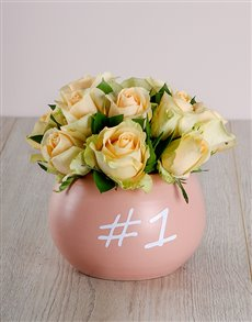 Number One Mother Cream Roses