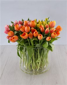 flowers: Mothers day Hundred in One Tulips Arrangement!