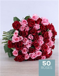 flowers: Shades of Red Bouquet!