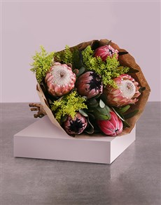 flowers: Protea Mix Bouquet in Craft Wrapping!