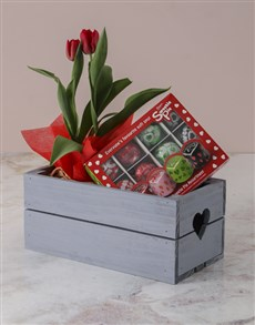 flowers: Tulips And Chocs Mothers Day Crate!