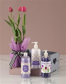 flowers: Mothers Day Tulip Bath & Body Crate!