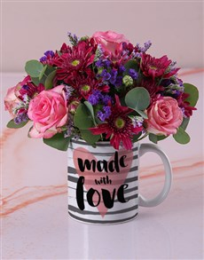 flowers: Made With Love in a Mug!