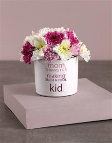 flowers: Colourful Sprays in Vase Print!